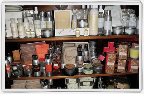 Lotions, Crèmes, Room Sprays and Soaps